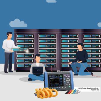 HIOKI Power Quality Analyzer PQ3198 untuk redundansi Data Center pengujian Static Transfer Switch (STS)