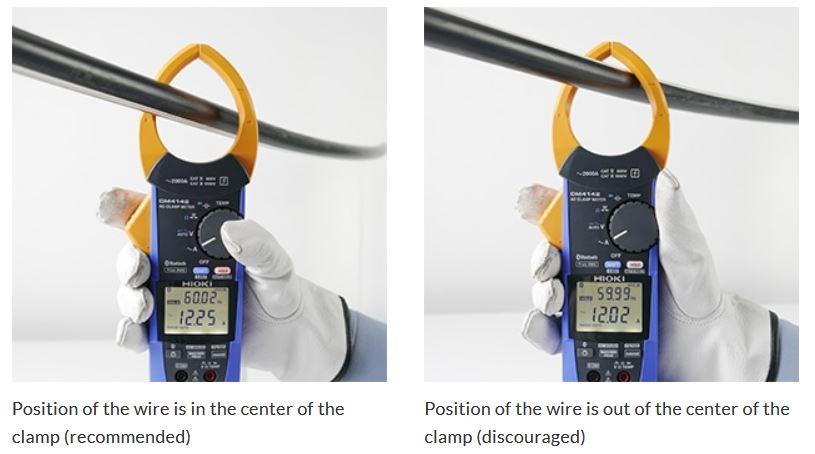 posisi pengukuran tang ampere yang benar