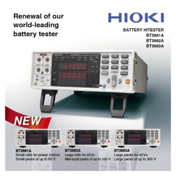 Hioki Meluncurkan Battery HiTester BT3561A, BT3562A dan BT3563A
