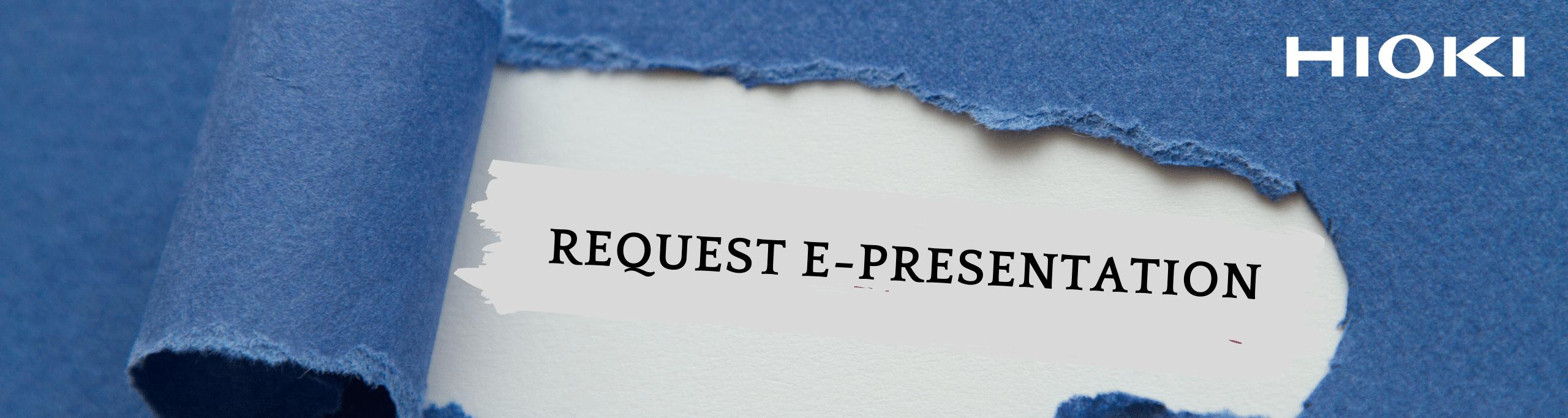 Request e-presentation
